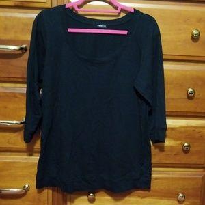 Black torrid 3/4 sleeve